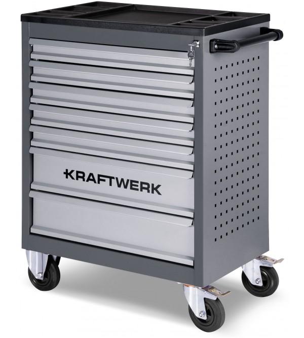 Carrello da officina Vuoto con 7 cassetti  Kraftwe...