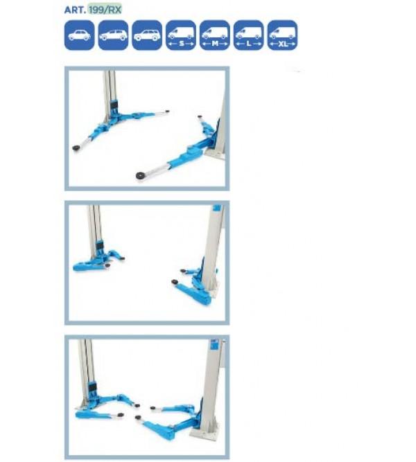 Ponte sollevatore elettroidraulico 2 colonne 5,5 Ton. Omcn 199/RX