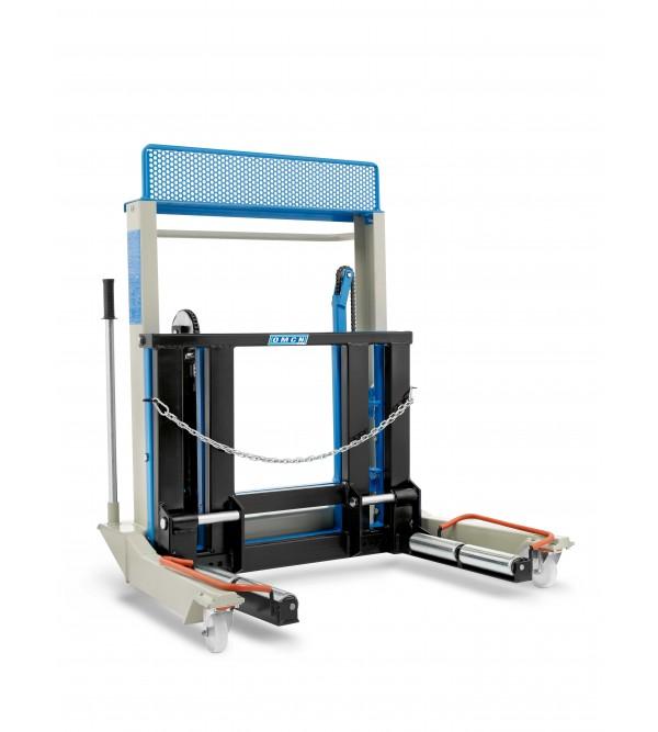 Sollevatore idraulico per montaggio e smontaggio r...