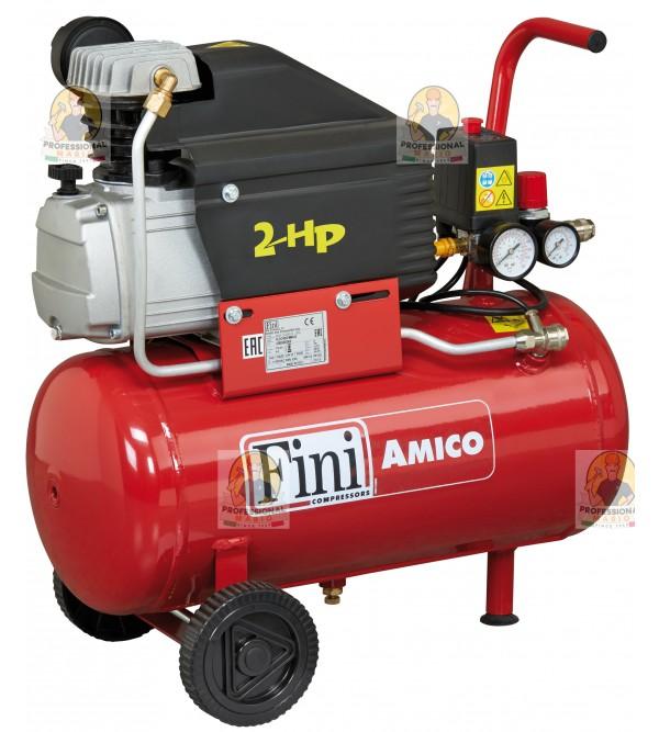 Compressore coassiale 25 Litri - 2 Hp Monofase Fin...