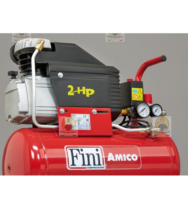 Compressore coassiale 25 Litri - 2 Hp Monofase Fini Amico MK2400