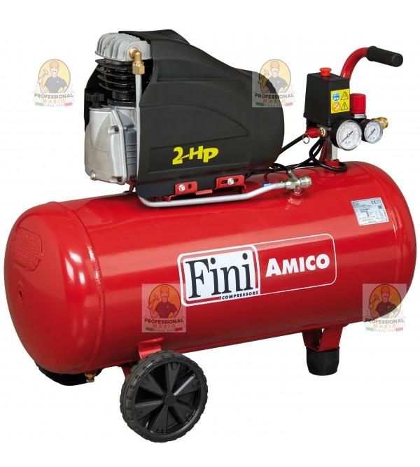 Compressore coassiale 50 Litri - 2 Hp Monofase Fini Amico 50/2400