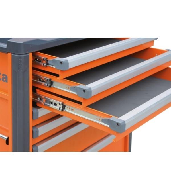 Carrello Porta Utensili 7 cassetti Arancione Vuoto Beta C37/7