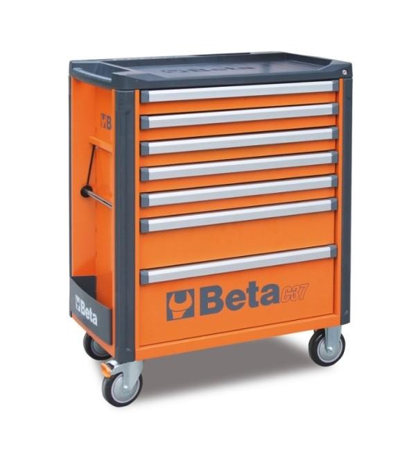 Carrello Porta Utensili 7 cassetti Arancione Vuoto...