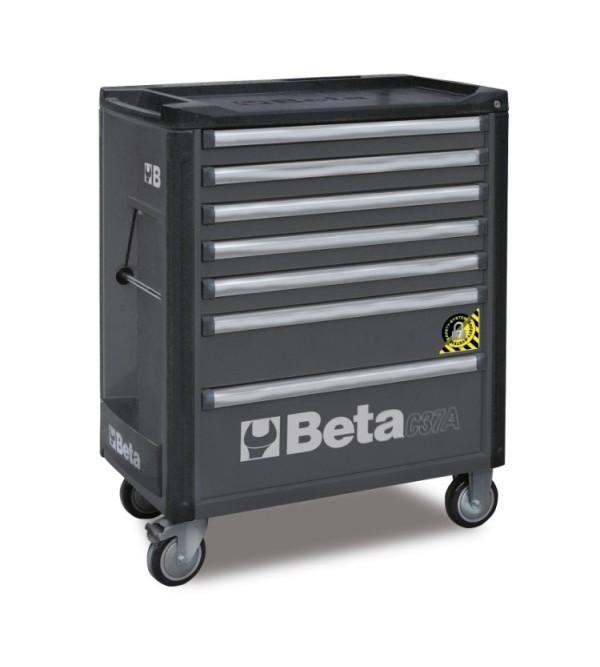 Carrello Porta Utensili Antiribaltamento 7 cassetti Grigio Vuoto Beta C37A/7