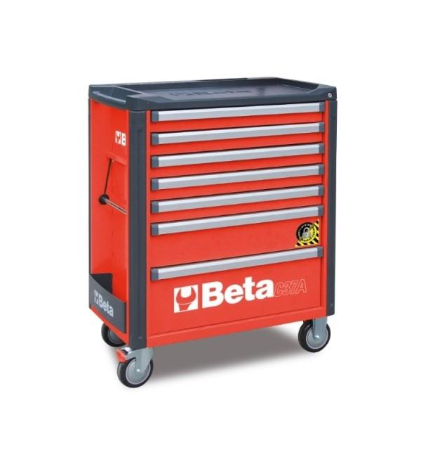 Carrello Porta Utensili Antiribaltamento 7 cassetti Rosso Vuoto Beta C37A/7