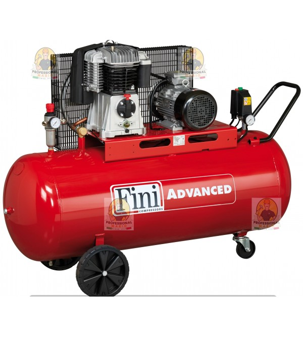 Compressore a cinghia bistadio 200 Litri - 4 Hp Tr...