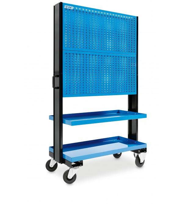 Carrello 2 ripiani con pannello portautensili Blu ...