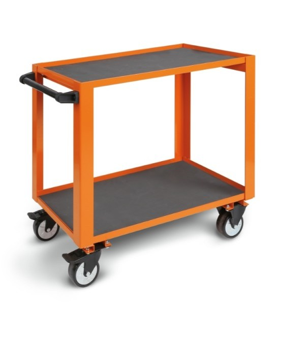 Carrello portautensili Arancione alta resistenza a 2 ripiani (vuoto) Beta CP51