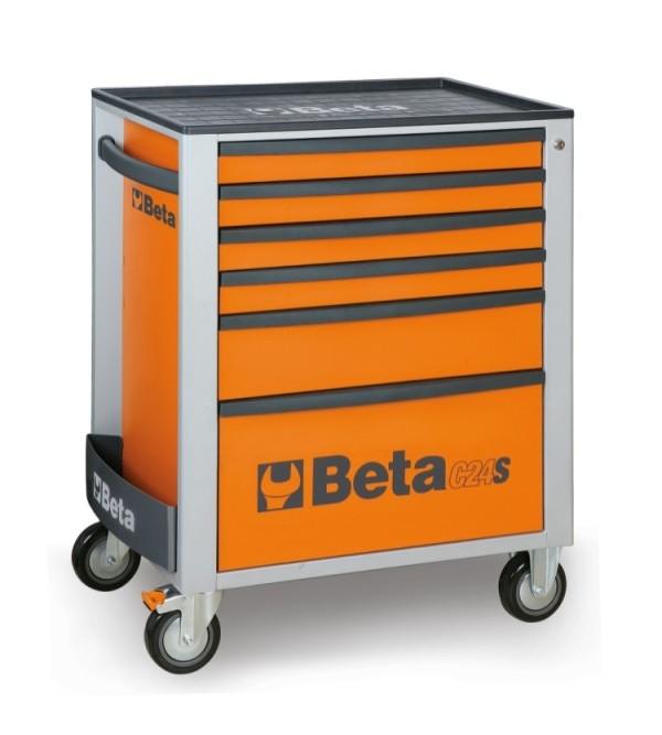 Carrello Porta Utensili 6 cassetti Arancione Vuoto Beta C24/S