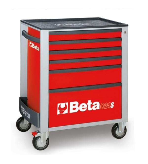 Carrello Porta Utensili 6 cassetti Rosso Vuoto Beta C24/S