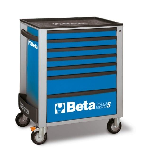 Carrello Porta Utensili 7 cassetti Blu Vuoto Beta C24/S