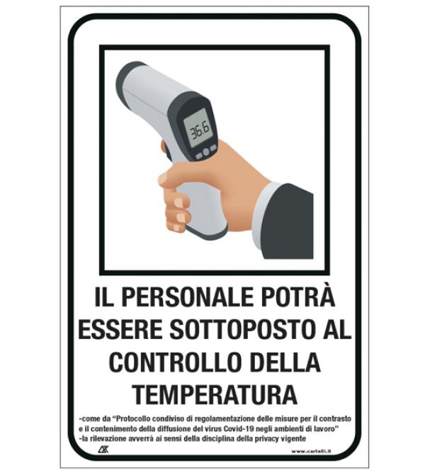 """Cartello di sicurezza """"Misurazione temperatur..."""