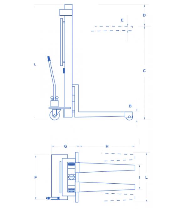 Carrello elevatore manuale 500 Kg Omcn 146/m