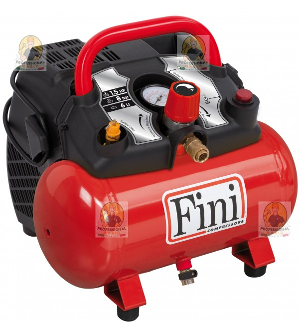 Compressore coassiale portatile - 6 Litri - 1,5 Hp...