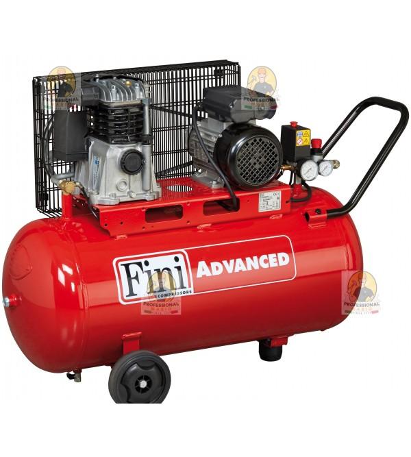 Compressore a cinghia monostadio 100 Litri Trifase - 2 Hp Fini MK102902T