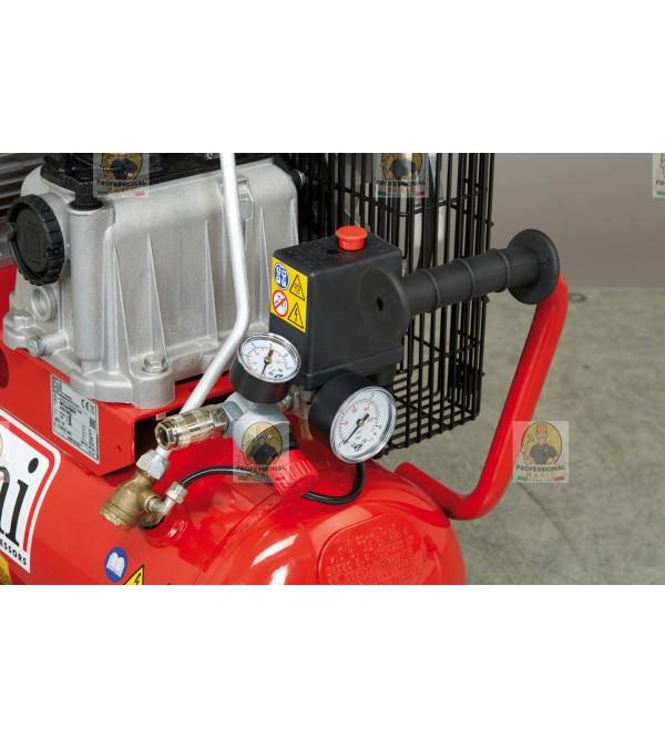 Compressore a cinghia monostadio 50 Litri - 2 Hp Monofase Fini MK102N502M