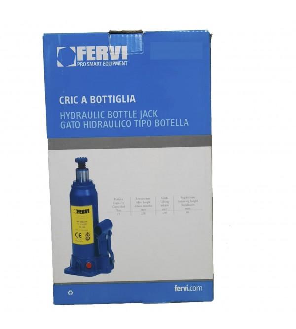 Cric a bottiglia 20 tonnellate Fervi 0062/20