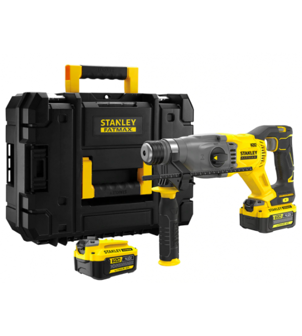 Tassellatore SDS-PLUS 18V con 2 batterie Stanley SFMCH9M22QW