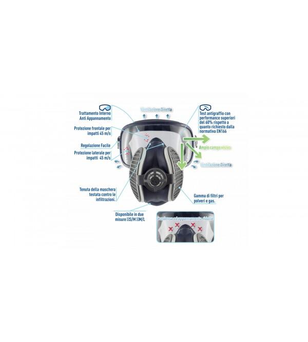 Maschera Elipse Integra GVS A1P3  SPR401, taglia M/L